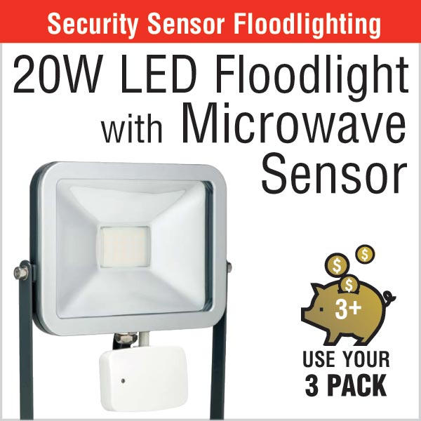 20w LED Floodlight with Microwave Sensor