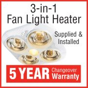 3-in-1 Fan Light Heater