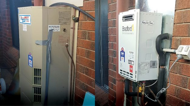 Continuous Flow Gas Hot Water Replacement
