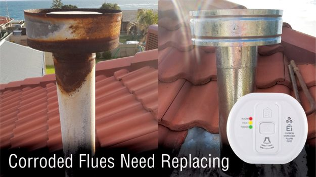 Corroded Gas Flues Need Replacing