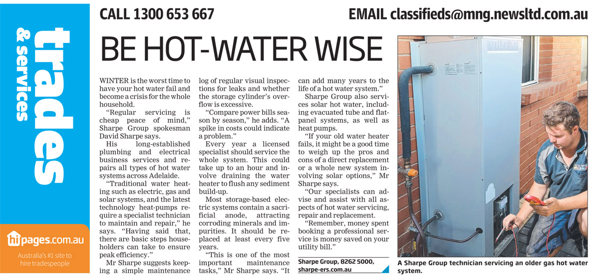 July 2017 Messenger Article_Hot Water Service