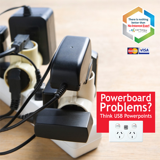 Reduce Overloaded Powerboards And Use Usb Powerpoints Sharpe