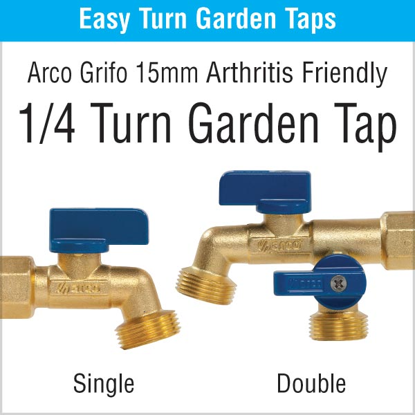 Quarter Turn Garden Taps - Arthritis Friendly