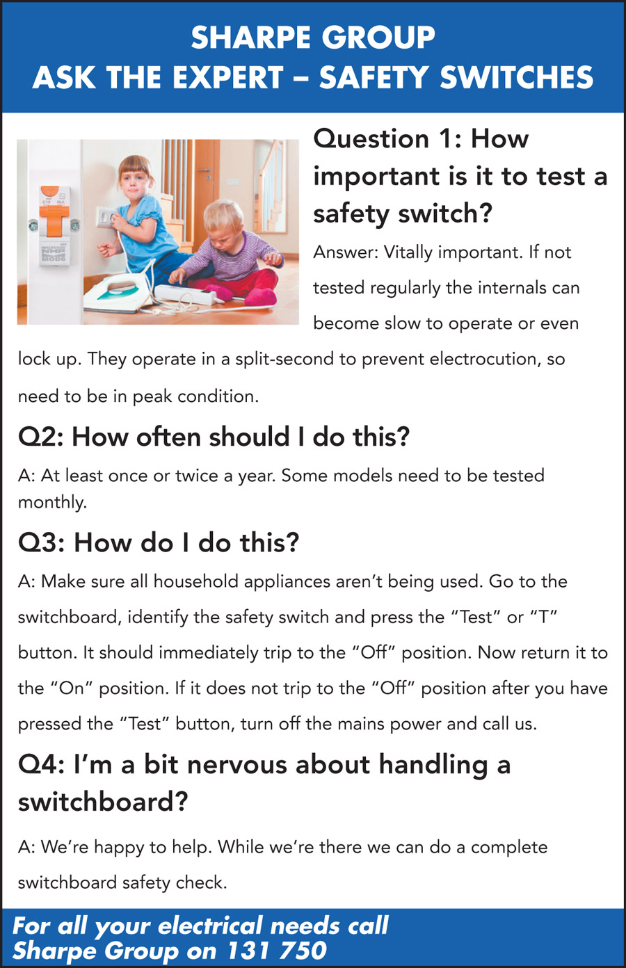 Ask the Expert - Safety Switches
