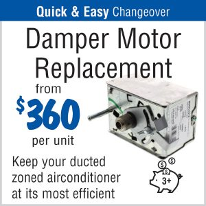 Damper Motor Replacement from $360
