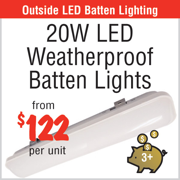 20W LED Weatherproof Batten Lights