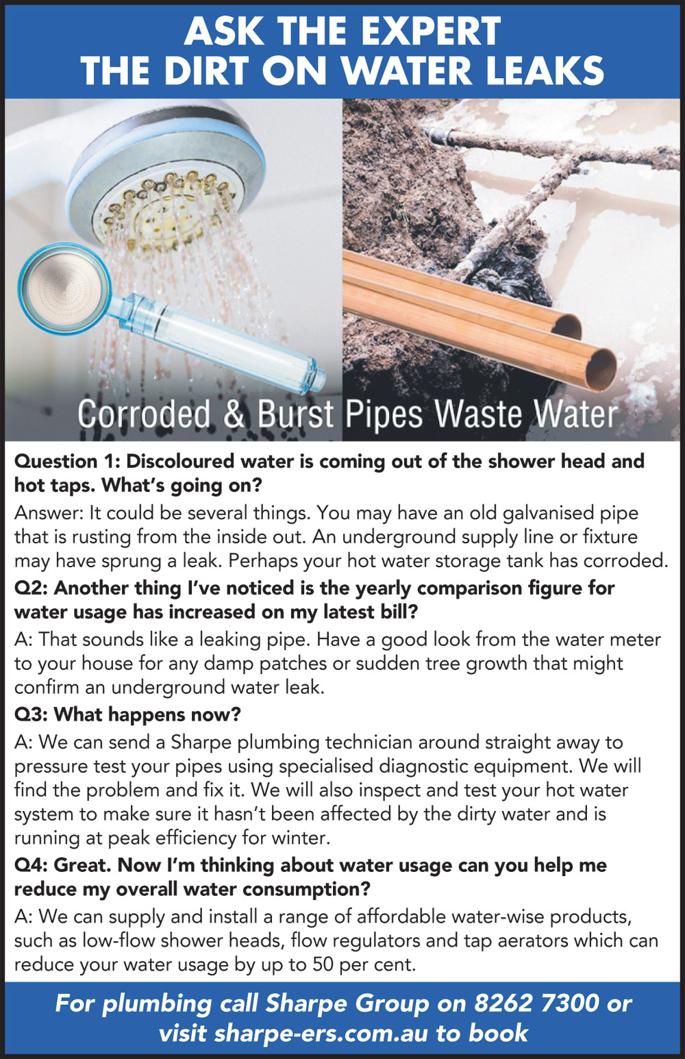 Ask the Expert - Leaking Pipes