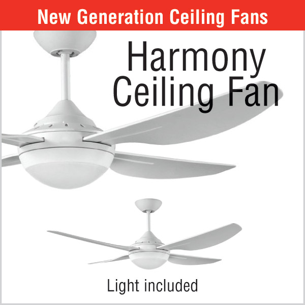 Harmony Ceiling Fan with LED Light