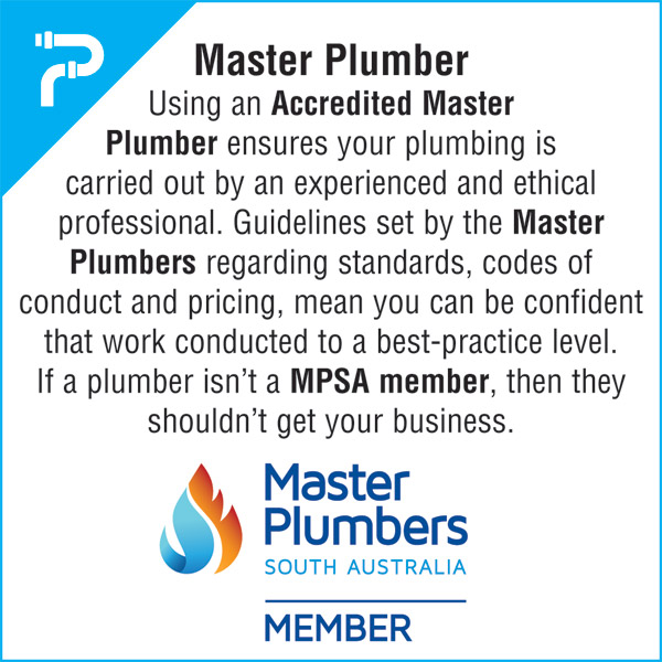 Always use Accredited Master Plumbers