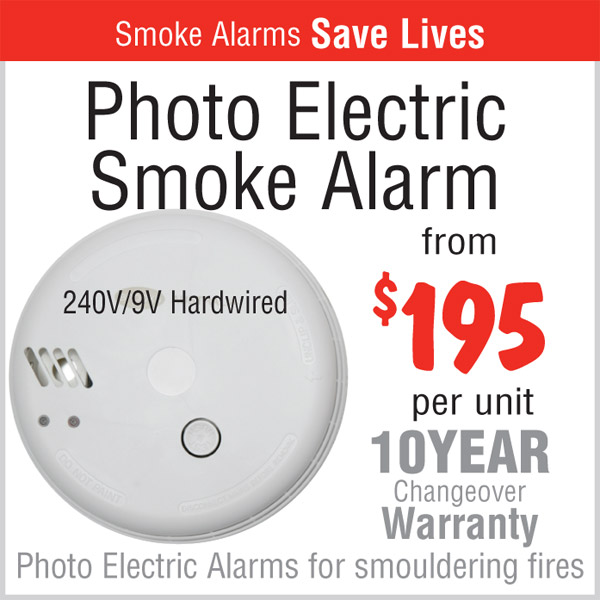 Photo Electric Smoke Alarm Installation - $195