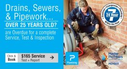 $165 Plumbing Service, Test & Inspection