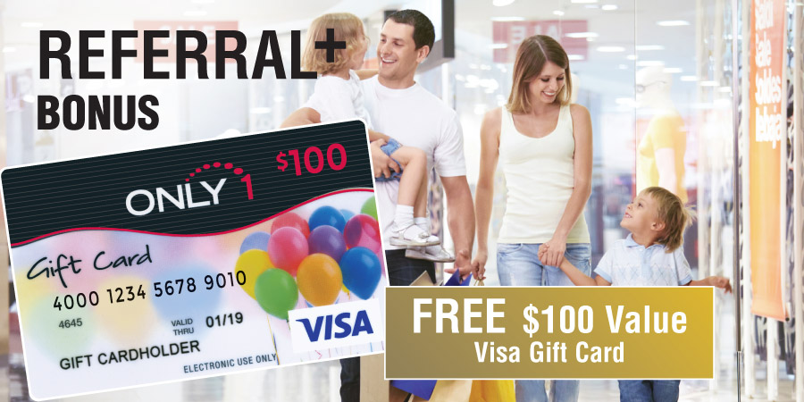 Referral 100+ Visa Gift Card