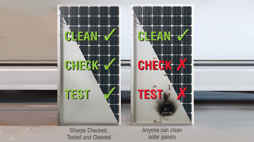 solar check test clean