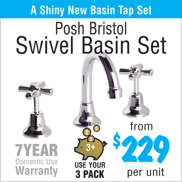 Posh Bristol Swivel Basin Set - from $229