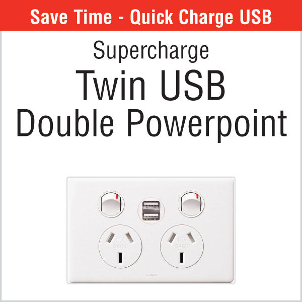 Twin USB Double Powerpoint